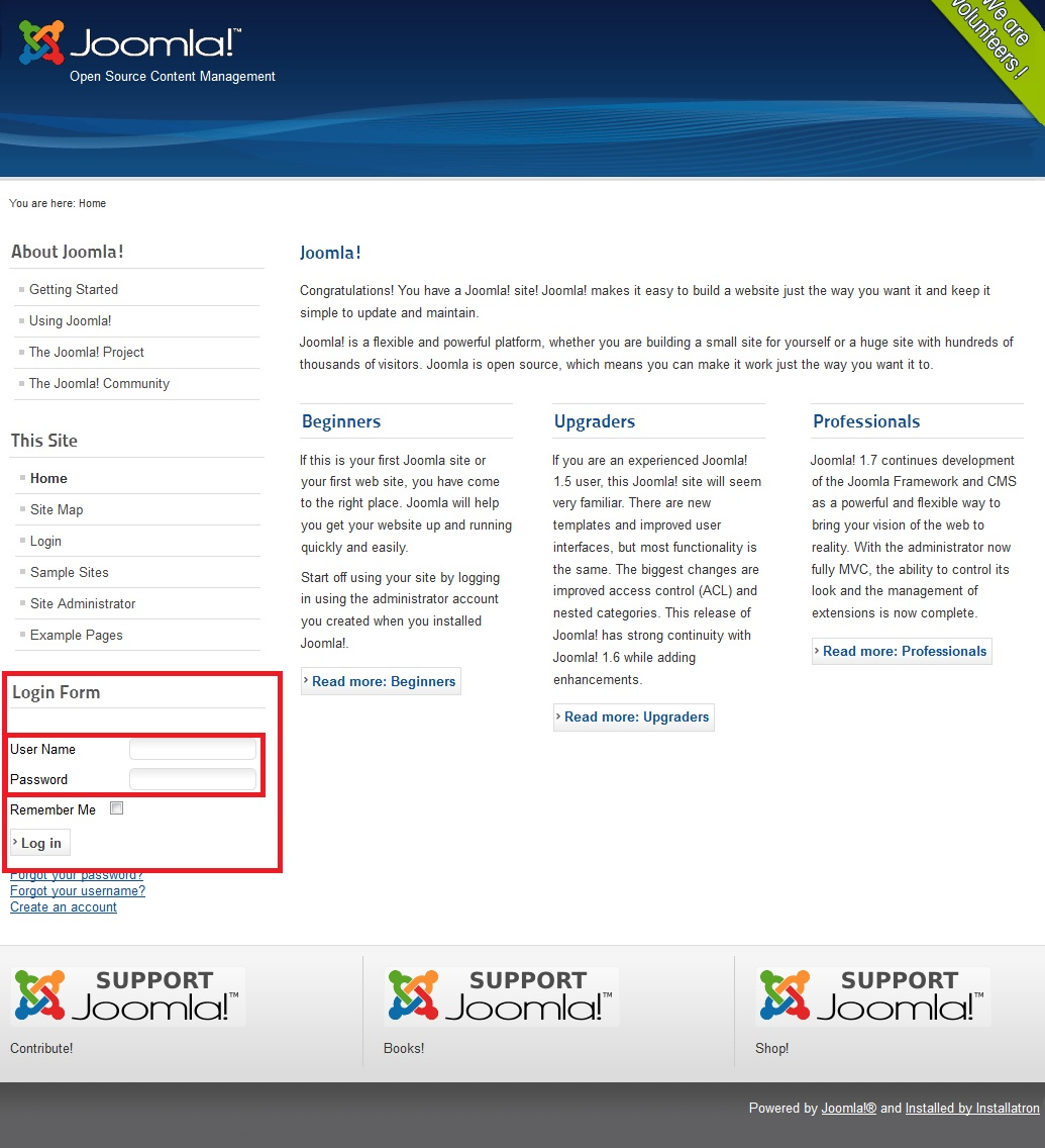 How to install joomla using installatron in directadmin ipserverone step 10 enter username and password that you have created then click log in 1betcityfo Image collections