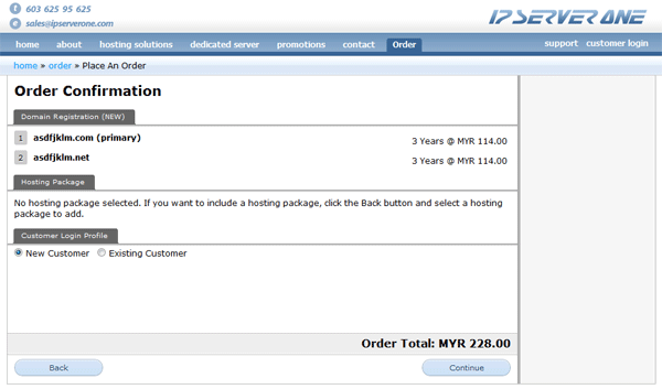 Step 6: Order Confirmation and Customer Profile