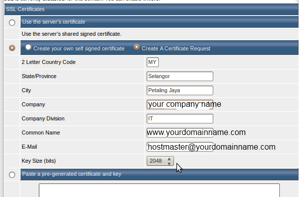 How to install SSL certificates on DirectAdmin platform