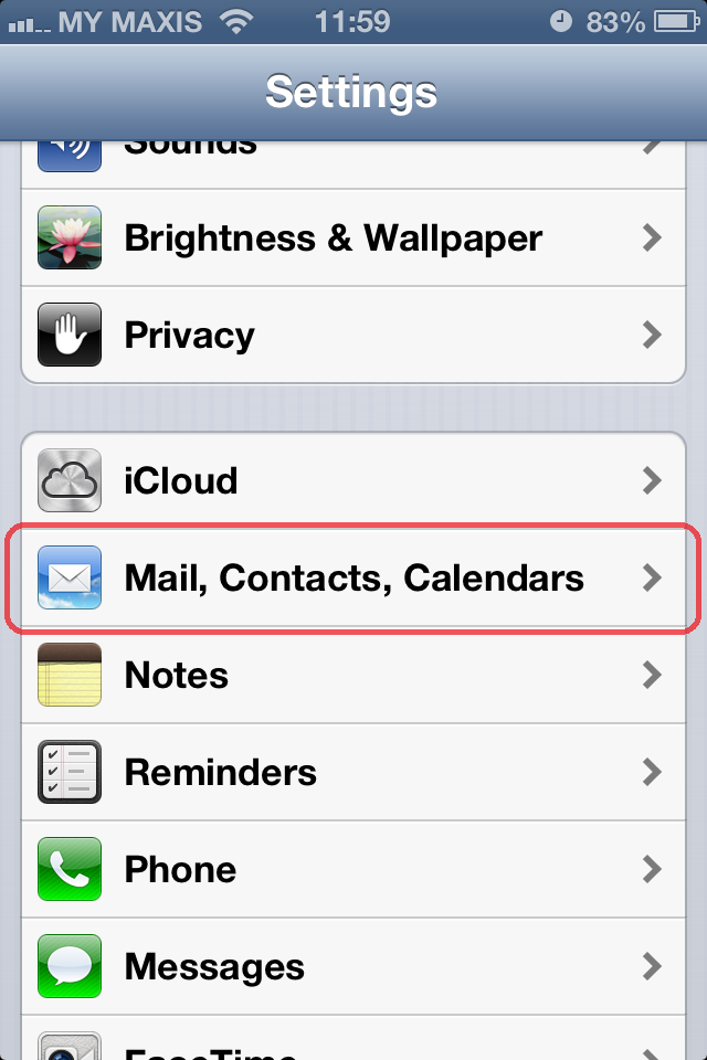 how to setup live email account on iphone