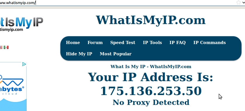 This is your current IP address