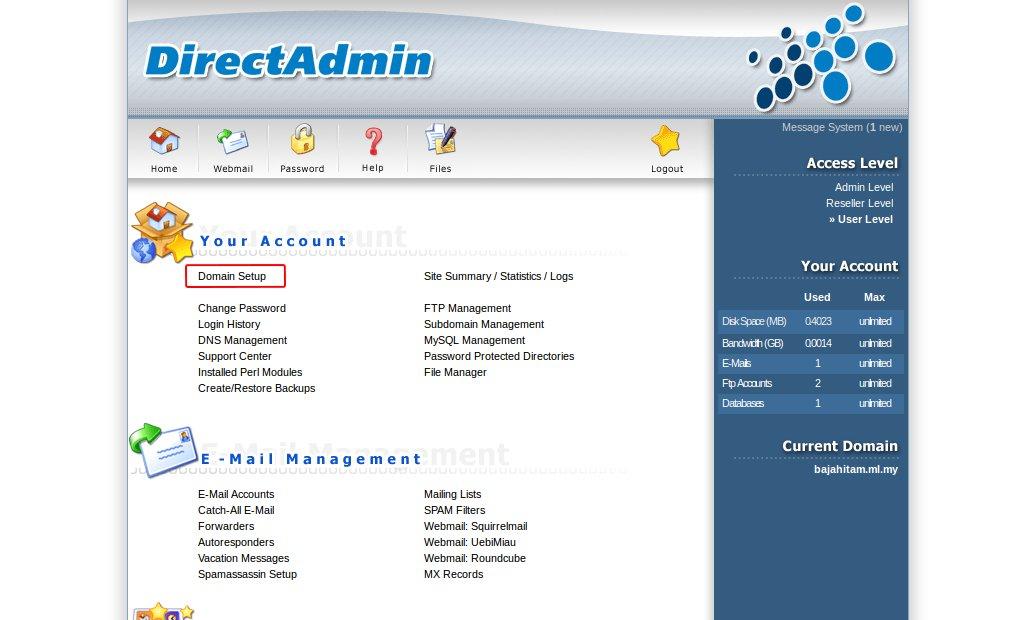 Хостинг с directadmin хостинги для серверов раст