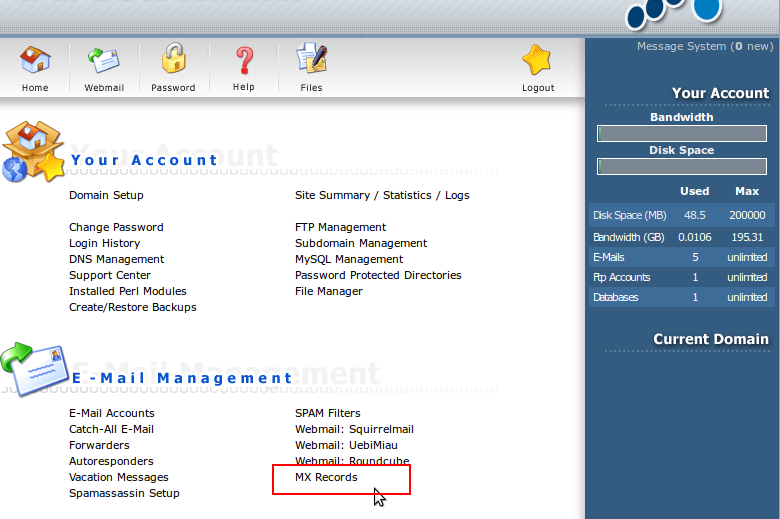 How to disable Local Mail server in direct admin   IPSERVERONE