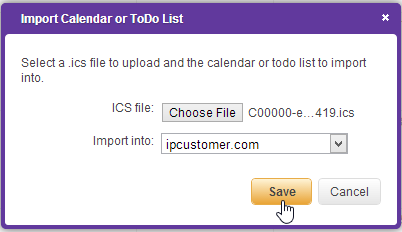 how to add appollo dashboard to icalendar