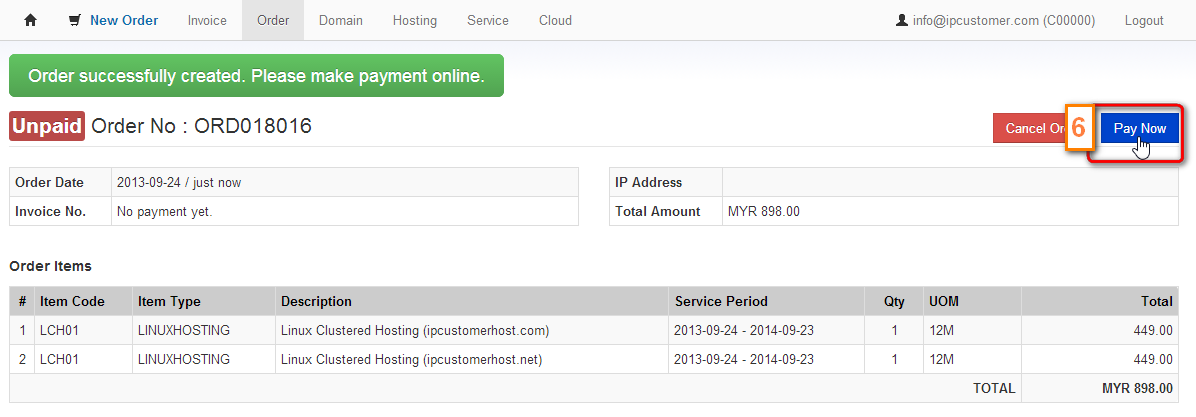 how to host your existing own domain from our ordering system rh ipserverone info Payment Methods Payment Methods