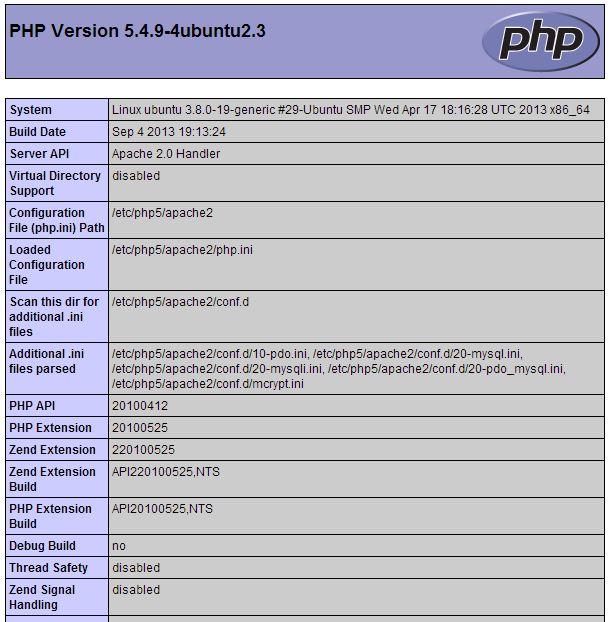 PHP-info-ubuntu