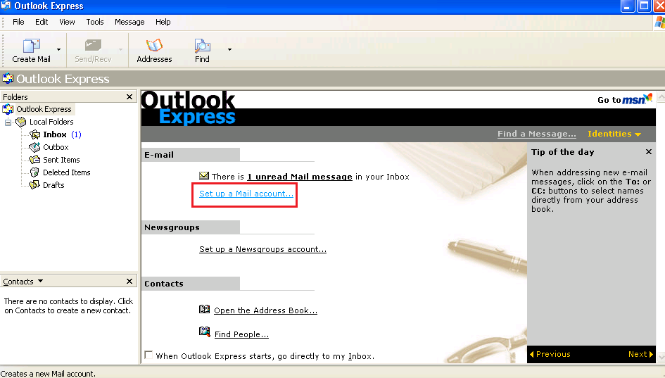 how to change smtp server port in outlook