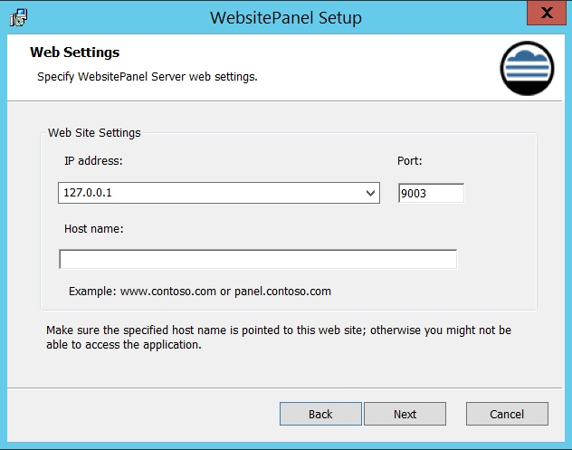 Install Websitepanel Ipserverone