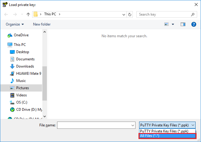 How to convert  pem private key file to  ppk format